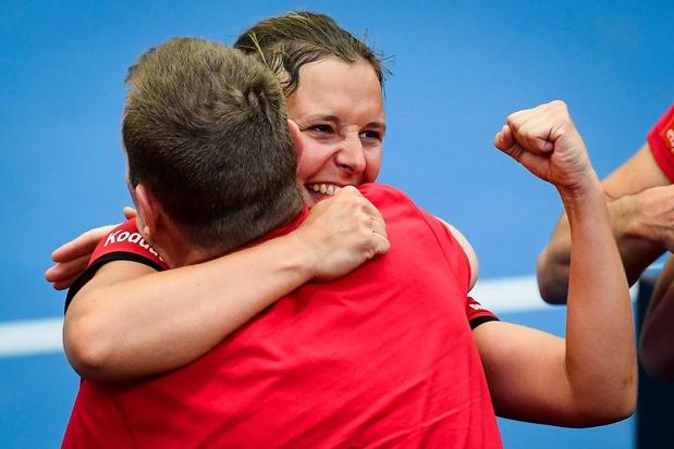 Fed Cup: Kirsten Flipkens bat Garbine Muguruza et offre le premier point à la Belgique