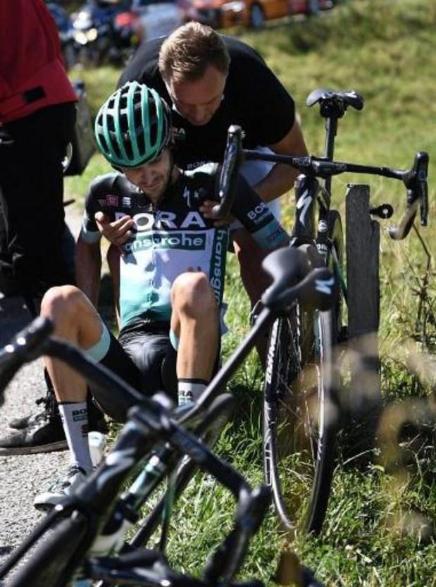 Emanuel Buchmann a repris les entraînements après sa chute au Dauphiné