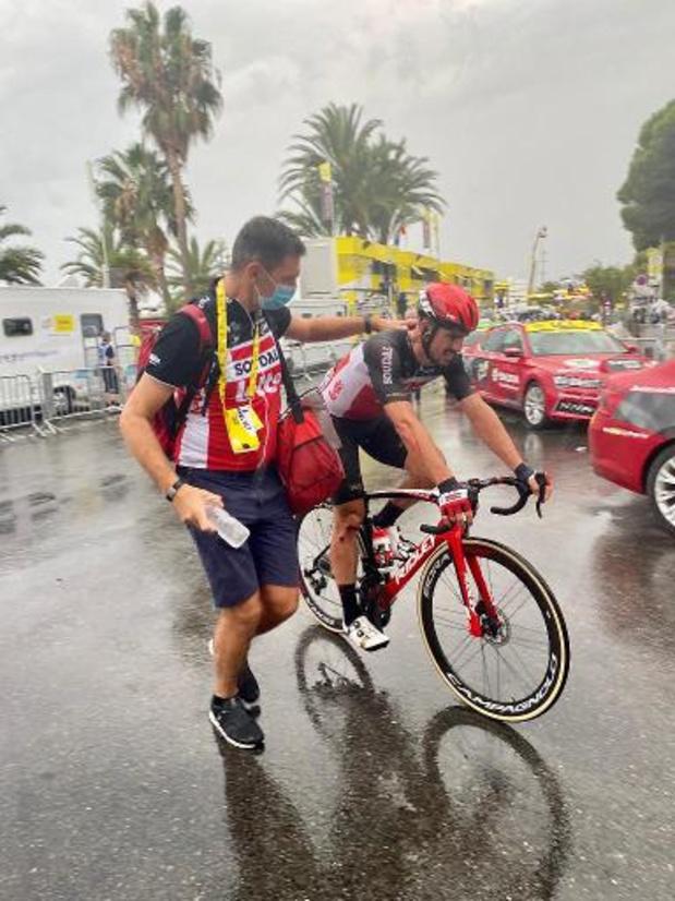 Tour de France - Degenkolb komt na crash buiten tijdslimiet aan: Tour meteen voorbij