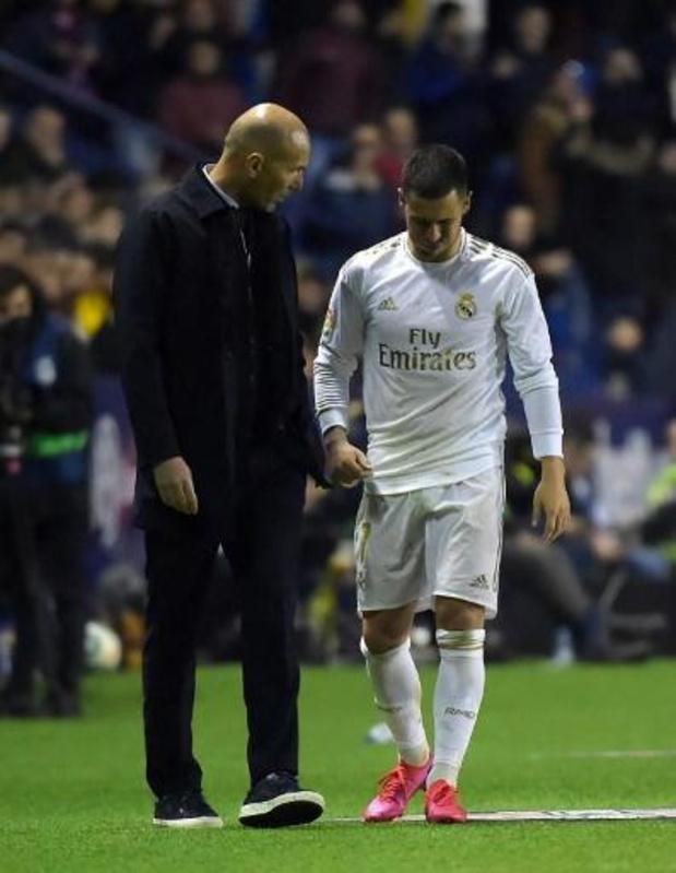 Eden Hazard (Real Madrid) valt opnieuw uit met enkelblessure