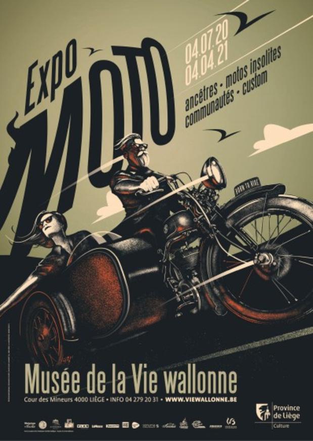 Expo moto au Musée de la Vie wallonne à Liège
