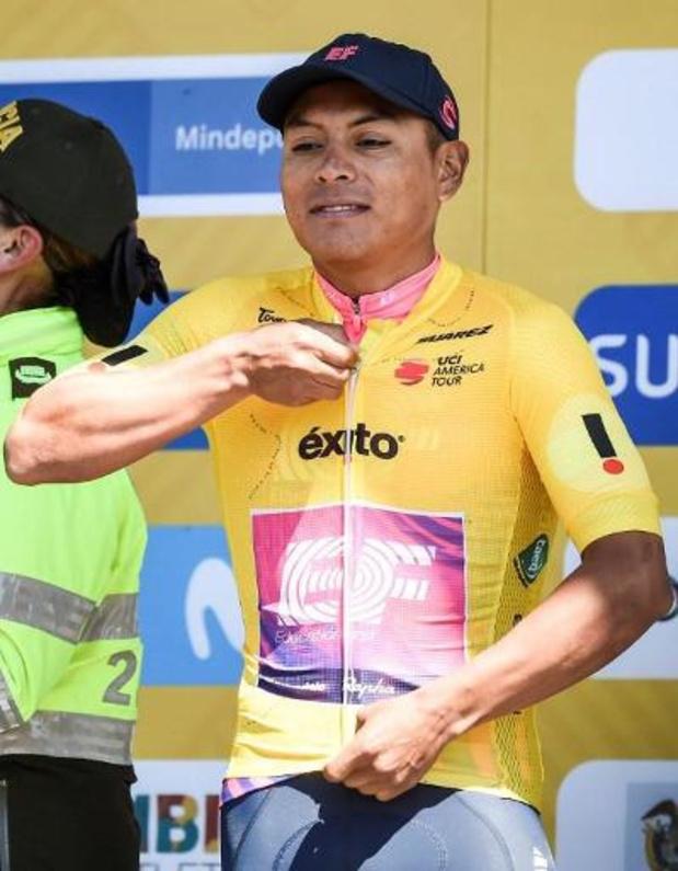 Tour Colombia - Deceuninck - Quick-Step grijpt naast zege in ploegentijdrit