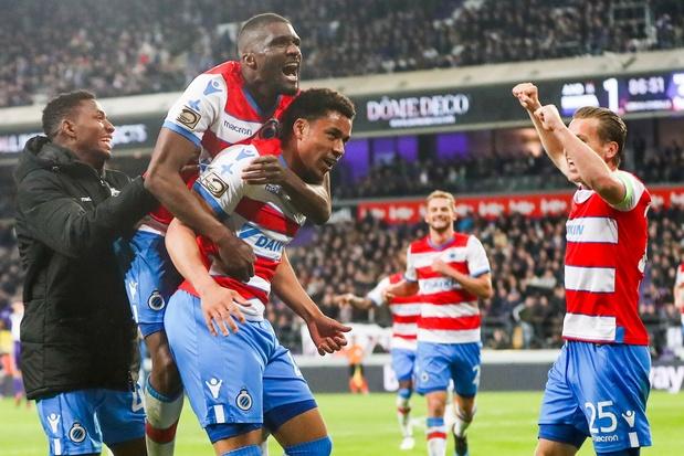 Après 21 ans de disette, Bruges s'impose à Anderlecht et revient à 1 point de Genk