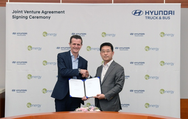 Hyundai Motor et H2 Energy concluent un accord sur l'hydrogène en Europe