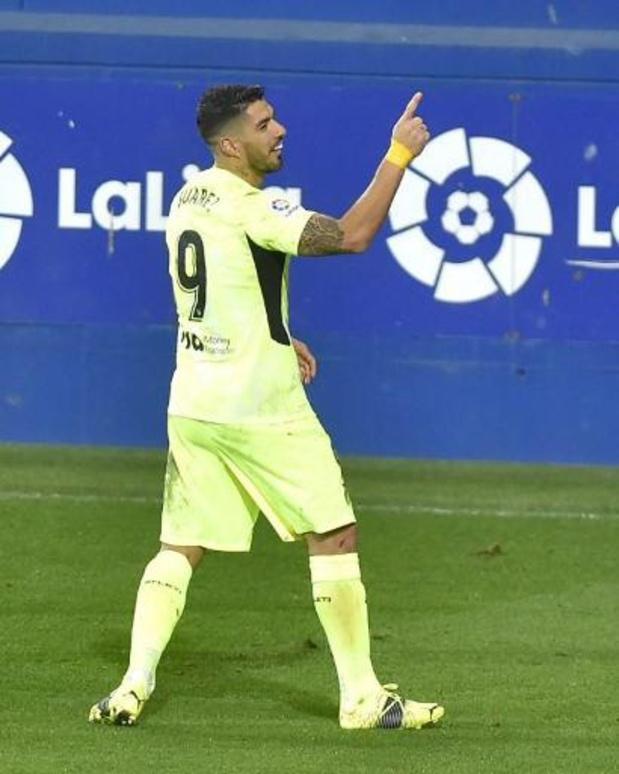 Les Belges à l'étranger - L'Atlético Madrid s'impose de justesse à Eibar 1-2 et conforte sa place de leader