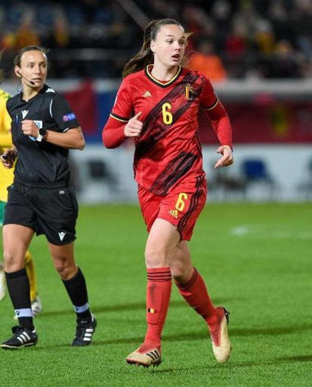 Algarve Cup - Red Flames verslaan Portugal en spelen voor vijfde plaats