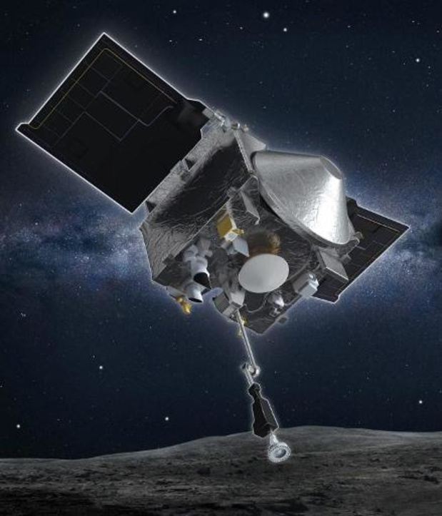 NASA-sonde verliest deeltjes van asteroïde in de ruimte