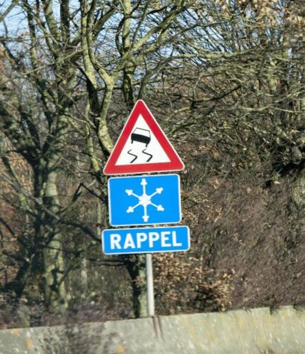 Conditions glissantes sur les routes belges dans la nuit de mardi à mercredi