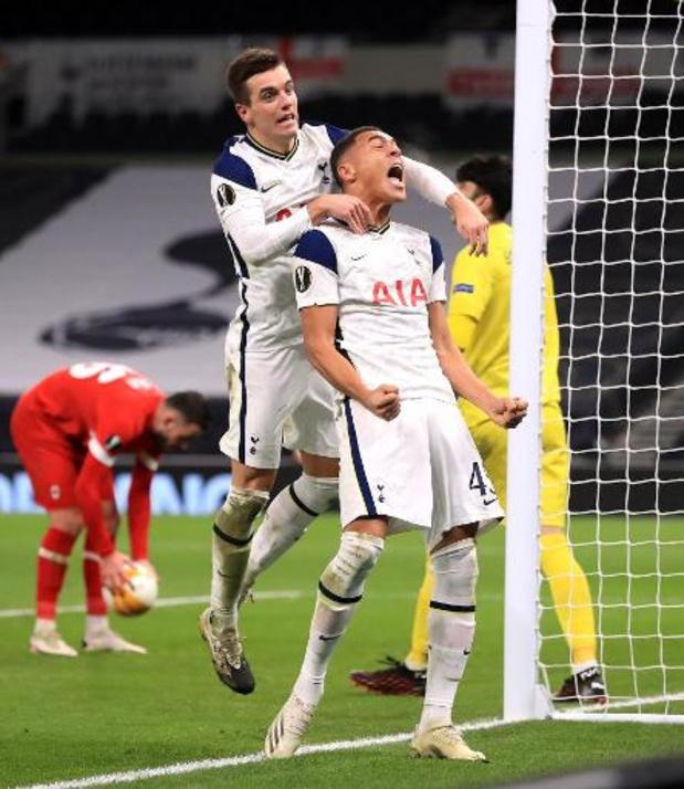 Europa League - Tottenham trop fort pour l'Antwerp qui termine deuxième du groupe J