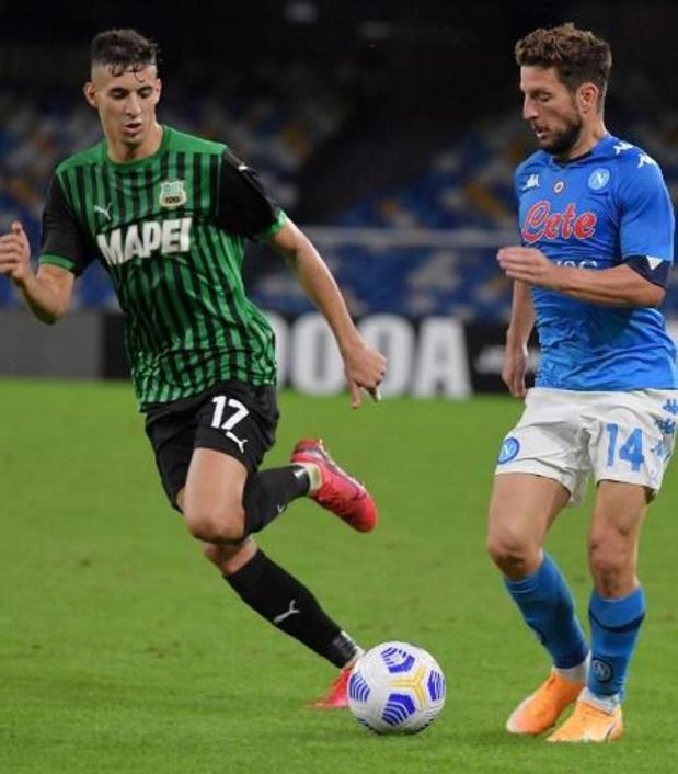 Les Belges à l'étranger - Naples perd le match du haut de classement face à Sassuolo