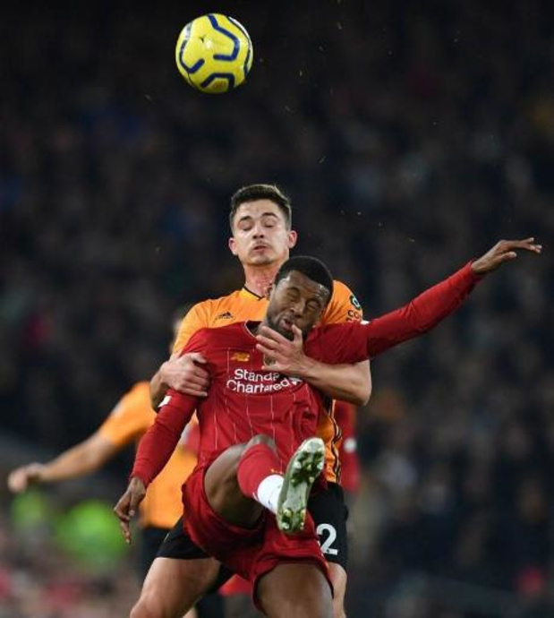 Les Belges à l'étranger - Liverpool et Origi terminent l'année par un succès sur les Wolves de Dendoncker