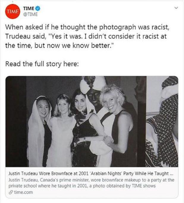 """Nog beelden van Trudeau in """"blackface"""" opgedoken"""
