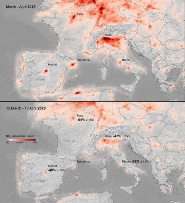 Pas encore de hausse de pollution observée en Europe depuis le déconfinement