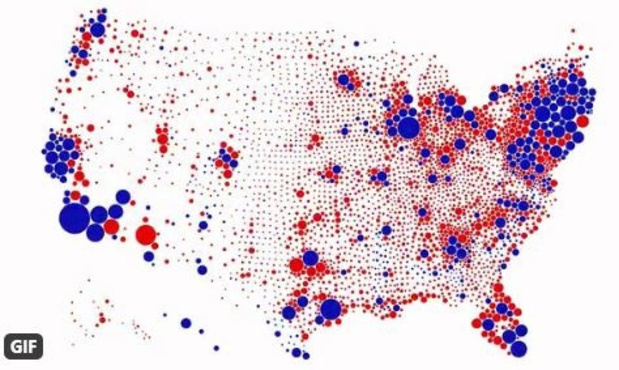 Élections US: la carte interactive d'un designer belge qui va changer votre perception
