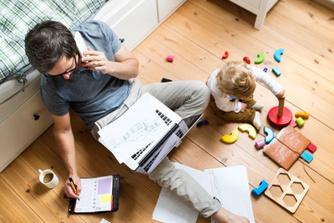 Thuiswerken: zo hou je je kinderen in toom