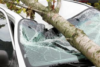 Dit kan je doen als je wagen op de parking van je werkgever stormschade lijdt