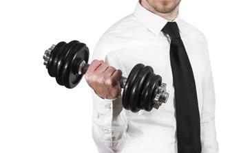 Probeer eens een work-out op het werk