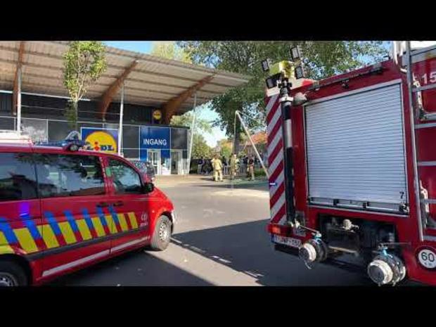 Lidl Sint-Pieters Brugge geëvacueerd na brandalarm