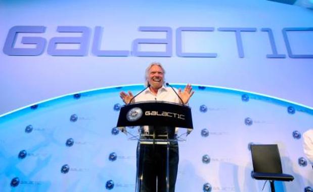 'Ruimtetoerismefirma Branson naar de beurs'