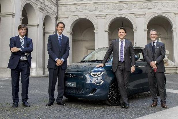 Fiat 500 Electric voorgesteld aan de Italiaanse premier