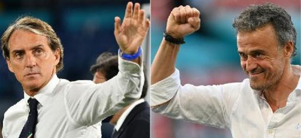Euro 2020 - L'Italie et l'Espagne veulent célébrer leur renaissance par une finale
