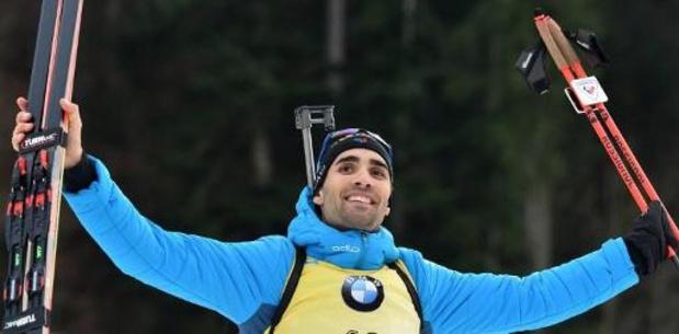 Martin Fourcade remporte la poursuite à Ruhpolding, Florent Claude 46e