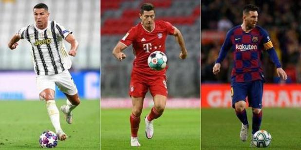 Lewandowski, Messi en Ronaldo strijden om hoofdprijs