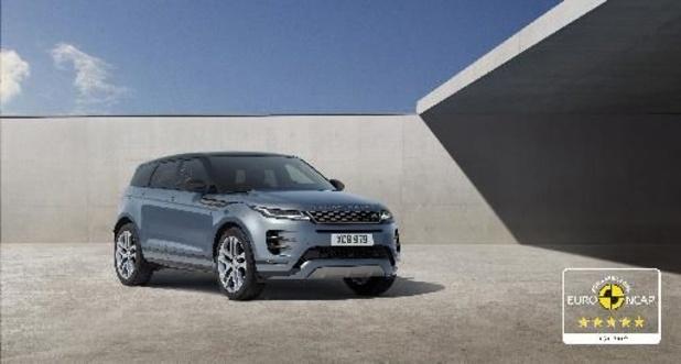 De nieuwe Range Rover Evoque behaalt 5 EuroNCAP sterren