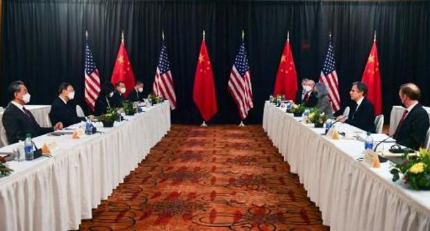 """Amerikaans-Chinese discussies """"hard"""" maar """"constructief"""" na de eerste verwijten"""