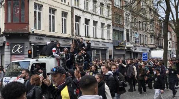 Cortège dans les rues de Liège: 14 arrestations administratives