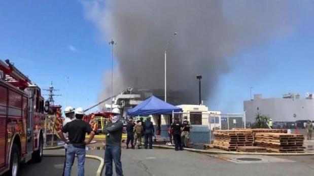 Meer dan 20 gewonden door brand op Amerikaans oorlogsschip in San Diego