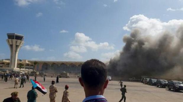 Explosies op luchthaven Eden bij aankomst nieuwe eenheidsregering: minstens 10 doden