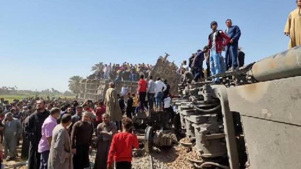 Treinongeval Egypte: minder doden dan eerst gemeld