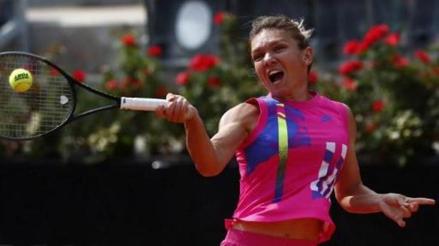 WTA Rome - Simona Halep is de eerste halve finaliste, Muguruza ontdoet zich van Azarenka