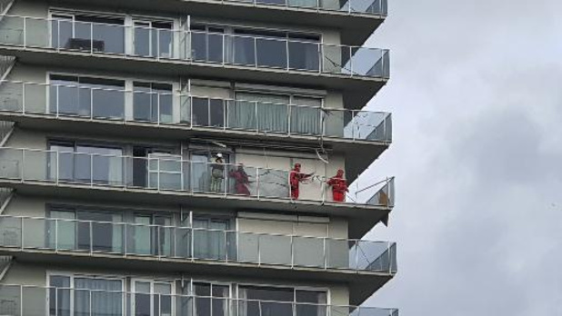 RED-team ingezet voor flatgebouw Spinmolenplein in Gent