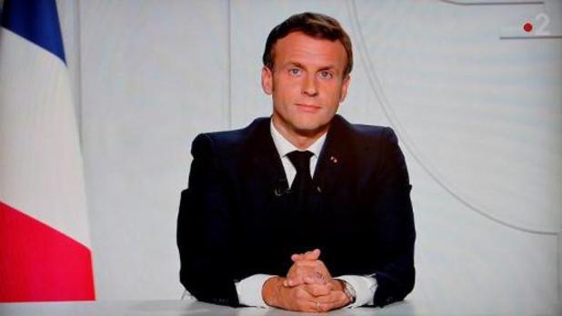 Franse president Macron kondigt nationale lockdown af