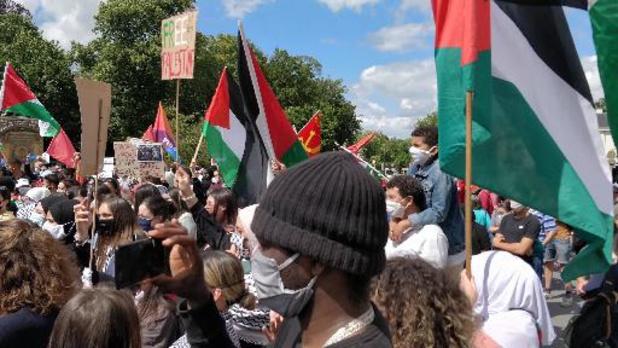 Zowat 500 mensen betogen in Brussel tegen annexatie Palestijnse gebieden