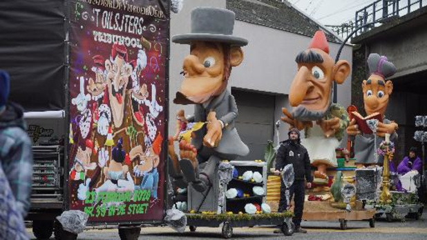 Aalst Carnaval - Carnavalstoet vertrekt later door storm, veiligheidsmaatregelen van kracht