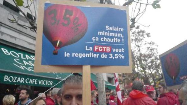 La FGTB rêve d'une hausse du salaire minimum sous le sapin