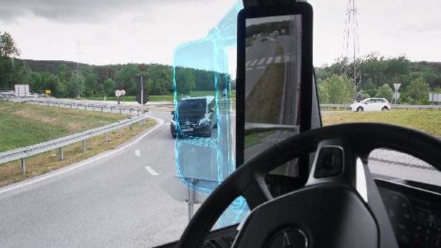 MirrorCam technologie voor Mercedes Actros