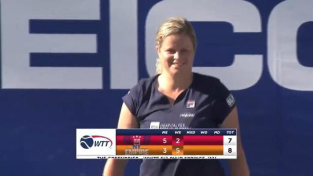 World Team Tennis - Kim Clijsters verslaat Australian Open-winnares Sofia Kenin