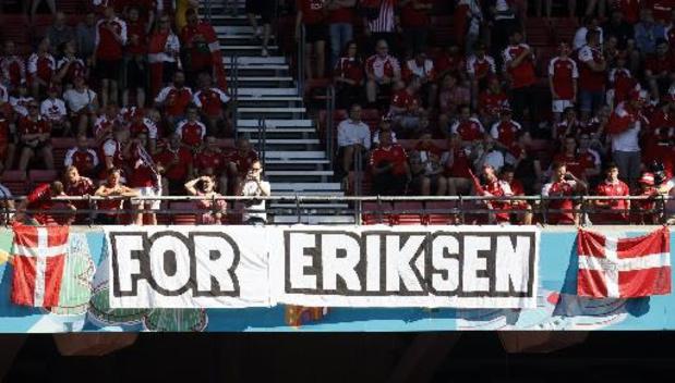 """La visite de Christian Eriksen """"donne un gros coup de boost"""" aux Danois avant la Russie"""