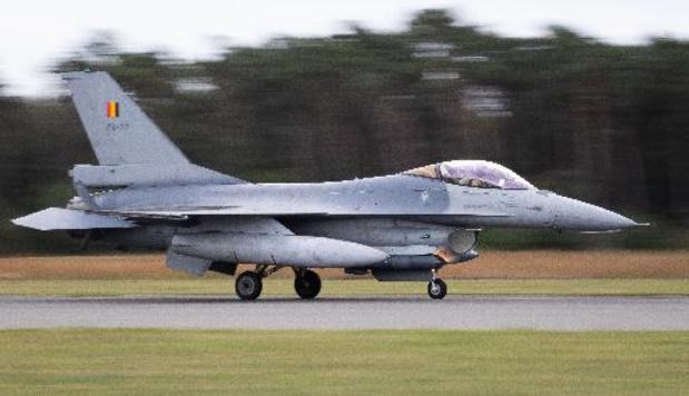 Les F-16 belges de retour en Belgique