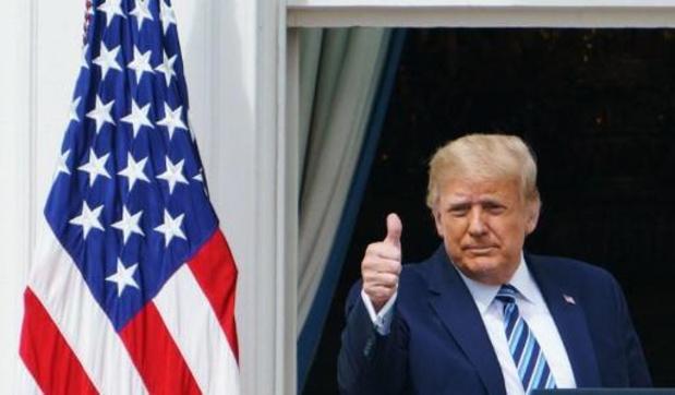 """Coronavirus - Trump voelt zich """"geweldig"""" tijdens eerste publieke toespraak na coronabesmetting"""