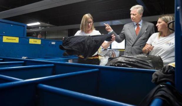 Koning Filip op bezoek in recyclagebedrijf in Herstal