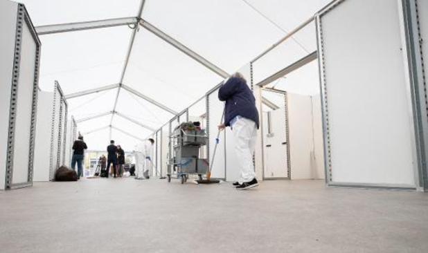 Ziekenhuis in Verviers bouwt noodhospitaal op zes dagen