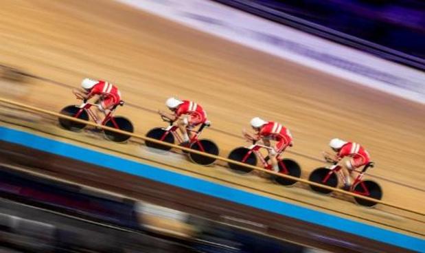 WK baanwielrennen - Deense achtervolgers doen nog wat van wereldrecord af