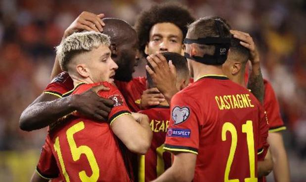 Les Diables Rouges toujours N.1 au classement FIFA, l'Angleterre sur le podium