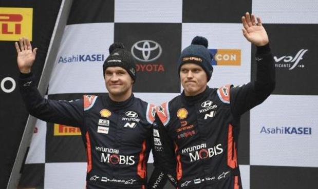Wereldkampioen Ott Tänak verschijnt aan de start van South Belgian Rally