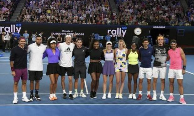 Tennissterren veilen memorabilia voor Australische bosbranden